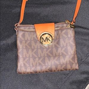 Michael Kors brown signature crossbody purse